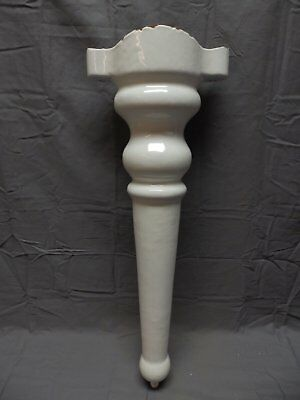 1 Antique Cast Iron White Porcelain Farmhouse Sink Leg Old Vtg Hardware 247-18P
