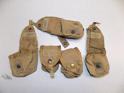 QTY 5 US Military Army Marines MOLLE II Hand Grenade Pouch Coyote Tan Brown