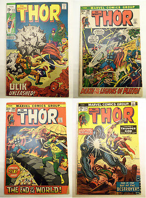 Classic THOR #173, 199, 200, 224 by Stan Lee / Jack Kirby / Buscema