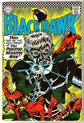BLACKHAWK #227 The Positive-Negative Man! DC Comic Book ~ FN