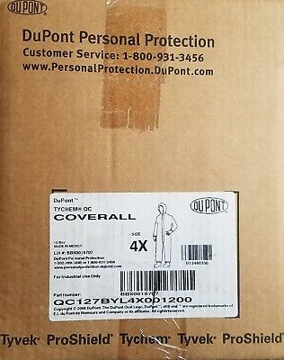 DuPont D134803502 4XL Yellow Tyche 2000 Disposable Coveralls 12/Box