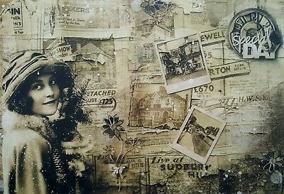 Rice Paper for Decoupage, Vintage  Old Newspaper , Scrapbooking, Sheet Craft