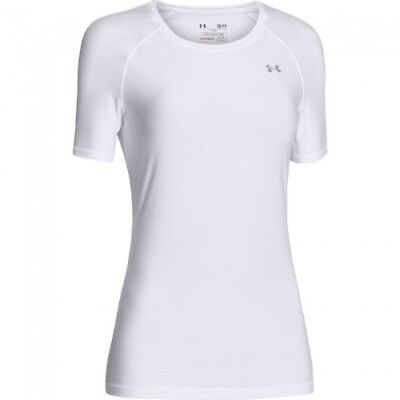 Under Armour HeatGear Short-Sleeve Tee - Women's - White - L - 1248505-100