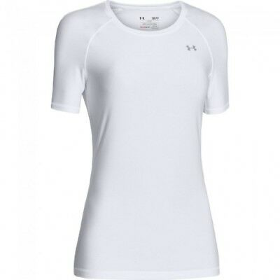 Under Armour HeatGear Short-Sleeve Tee - Women's - White - M - 1248505-100