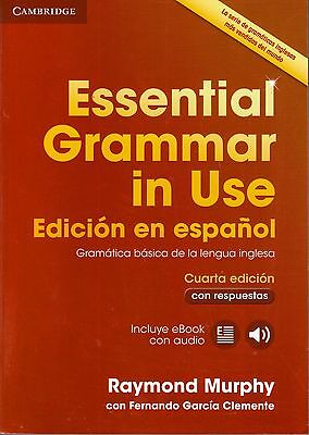 Cambridge ESSENTIAL GRAMMAR IN USE 4th Ed w Answers &Online SPANISH Espanol @New