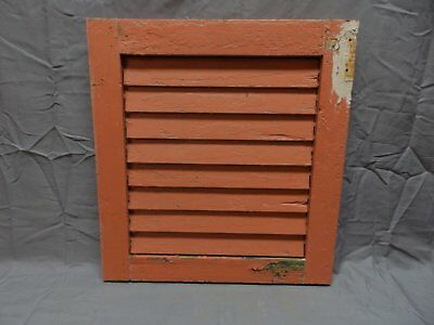 1 Antique House Window Wood Louvered Shutter 18x17 Shabby Old Vtg Chic 255-18P