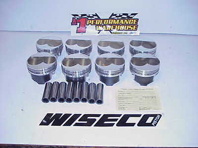 "8 NEW Wiseco Forged Dome Pistons & Pins 4.020 Bore 1.250"" CH- .927"" SB Chevy W62"
