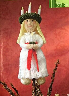 Alan Dart Knitting Pattern for Santa Lucia Queen Of Lights