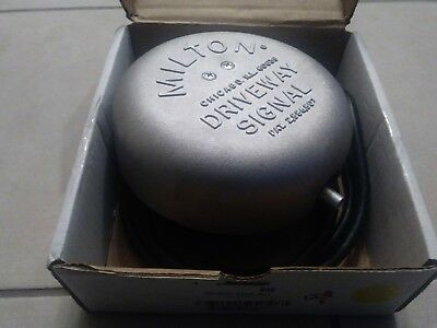 Milton 805 Driveway Bell Instant Signal for Service Station Bank Restaurant NEW
