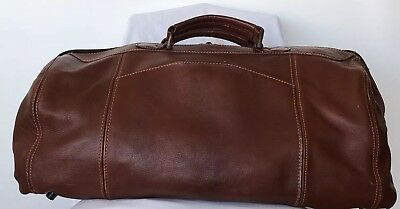 Large Vintage Pure  Leather Boho Overnight Bag Superb Whisky Colour Stylish
