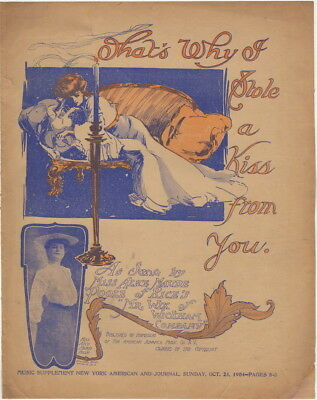 That's Why I Stole A Kiss from You, Miss Alice Maude Poole newspaper sheet music