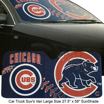 New MLB Chicago Cubs Car & Truck Windhield Folding SunShade