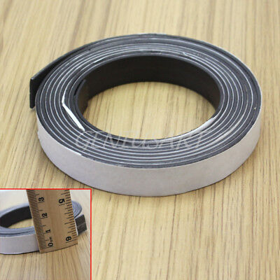 Flexible Rubber Self Adhesive Magnet Magnetic Tape Strip Craft 2 Meter Length
