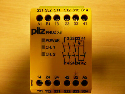 Pilz-PNOZ-X3-Safety-Relay ,New- Old stock