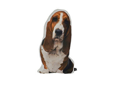 Lava Pillows Basset Hound Shaped Puppy - 15 X 11 Indoor/Outdoor Throw Pillow