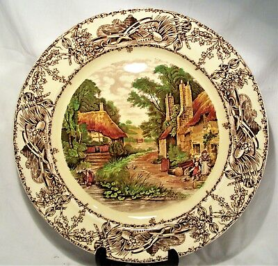 Vintage Clarice Cliff Royal Staffordshire Porcelain Charger Rural Scenes