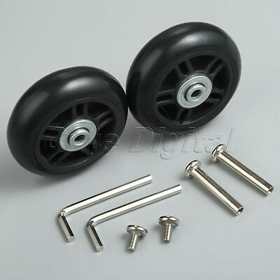 2 Set OD 70mm Luggage Suitcase Wheels Axles Replacement Deluxe Repair Screw Kit