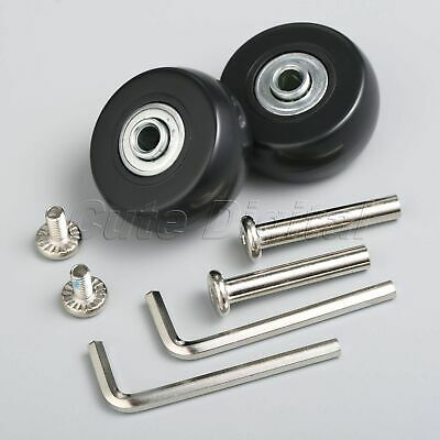 2 Set Replacement Luggage Suitcase Wheels Axles Rubber OD 40mm Deluxe Repair Kit