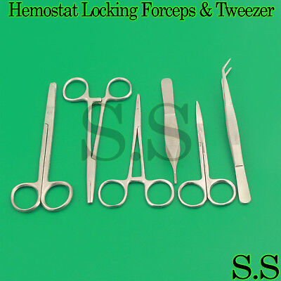 Artery Halsted Surgical Haemostatic Forceps Locking Clamp Pliers Suture Scissors