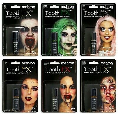 Mehron Tooth Fx Color Paint Theater Costume Zombie Teeth .25 Oz Makeup Pick !!!