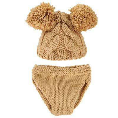 2pcs/Set Baby Child Photo Props Cute Handmade Crochet Costume Knitted Hat Briefs