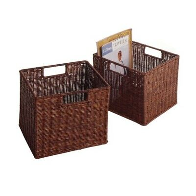 Winsome Wood Leo Set of 2, Wired Basket, Small WIN-92211