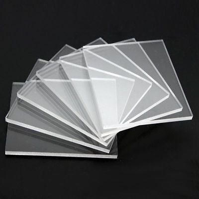 Clear Acrylic Perspex Sheet Plastic Plexi glass Panels cut to size 2MM 8MM A3