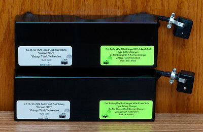 ~TWO  2.5 Ah AGM SLA BATTERIES FOR NORMAN 200B ~