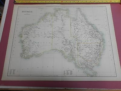 100% Original Large Australia  Map By Black C1880/s Vgc Low Postage