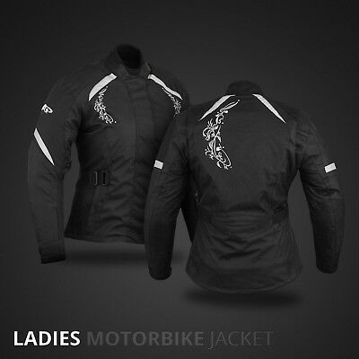 Ladies Motorbike Jacket Coat Waterproof Women Motorcycle Touring Jacket Black