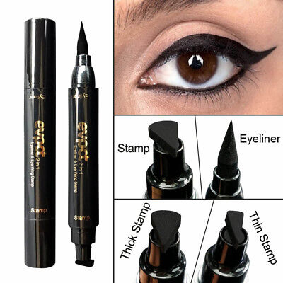 USA Winged Eyeliner Seal Stamp Cat Eye Wing Double Head Eyeliner Pencil Tool 1PC