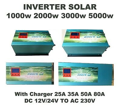 Inverter 1000W 2000W 3000W 5000W Inverter Of Wave Pure Sine LCD+Charger