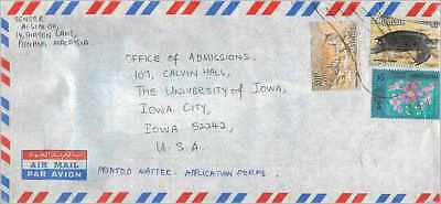 Lettre Cover China Clouded University Iowa Chiao Tung