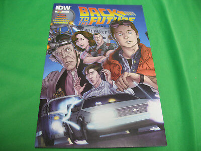 Back to the Future #1 IDW first print McFly  Bag and Board