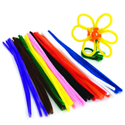 """Assorted Colour Craft Stems Pipe Cleaners 15cm 6"""" - 10 , 100, 500 , 1000"""