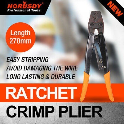 "11"" Crimp Ratchet Wire Terminals Crimper Crimping Pliers 1.25-16mm² TOOL Cable"