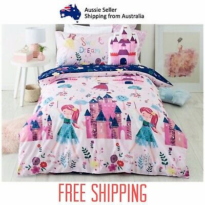 Baby Bedding Cot Bed Set Reversible Quilt Cover + Pillowcase + Quilt Bunny