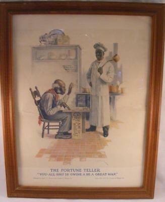 Vintage 1914 Black Americana Cream Of Wheat Advertising Ad - The Fortune Teller