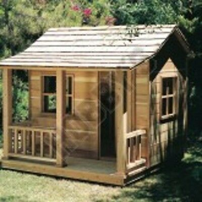 PLAN (ONLY)TO BUILD WOODEN PLAYHOUSE 6 X 6FT WITH PORCH  Full Size no materials