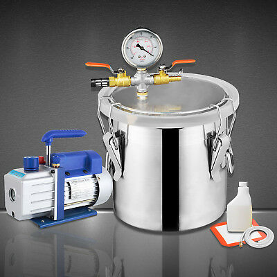 3 Gallon Vacuum Chamber & 4 CFM Single Stage Pump Degassing Silicone Kit