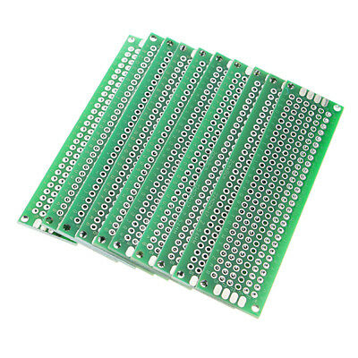 Geekcreit 10pcs 20x80mm FR-4 2.54mm Double Side Prototype PCB Prin