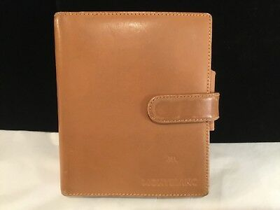 Authentic & Signed Montblanc Leather Organizer Natural Brown Must See No Reserve