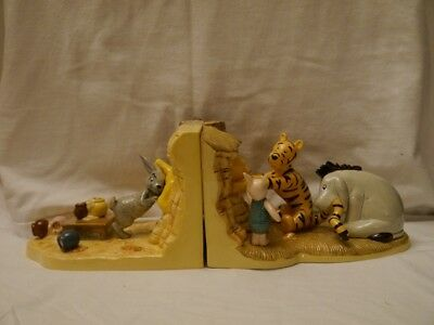 Royal Doulton Push...Pull!!! Come on Pooh! Book Ends Figurines Limited Edition