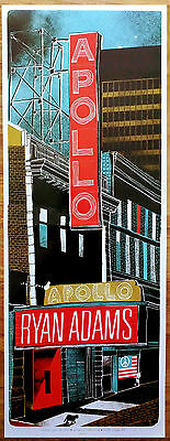 RYAN ADAMS NYC Apollo Theater 2017 Ltd Ed Large RARE Litho Poster! Rock Prisoner