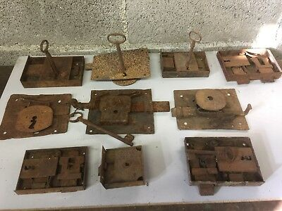 Lotto 10 Antiche serrature  - Old Lock Door Latch  Stock
