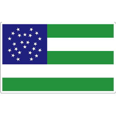 2 Inch Non-Reflective New York Police Department NYPD Flag Sticker Decal
