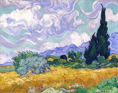 Wheat Field with Cypruses Painting by Vincent van Gogh Art Reproduction