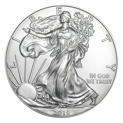 2018 1 oz. American Silver Eagle, Gem BU w/ No Marks/Spots!    Buy 2 & Save $1