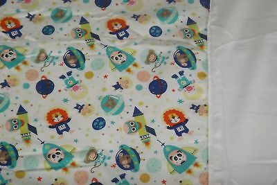 Moses Basket Light Weight Quilt Coverlet Soft Fleece Backed Lining Outer Space