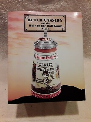 """Anheuser Busch """"butch Cassidy"""" Famous Outlaw Series Stein Cs522"""